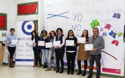 Dimoba apoya los actos contra la violencia de género con una actividad de sensibilización en el CEIP Ave María del Quemadero
